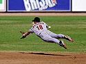 Astros prospect David Matranga dives for a grounder in the 2001 Arizona Fall League.