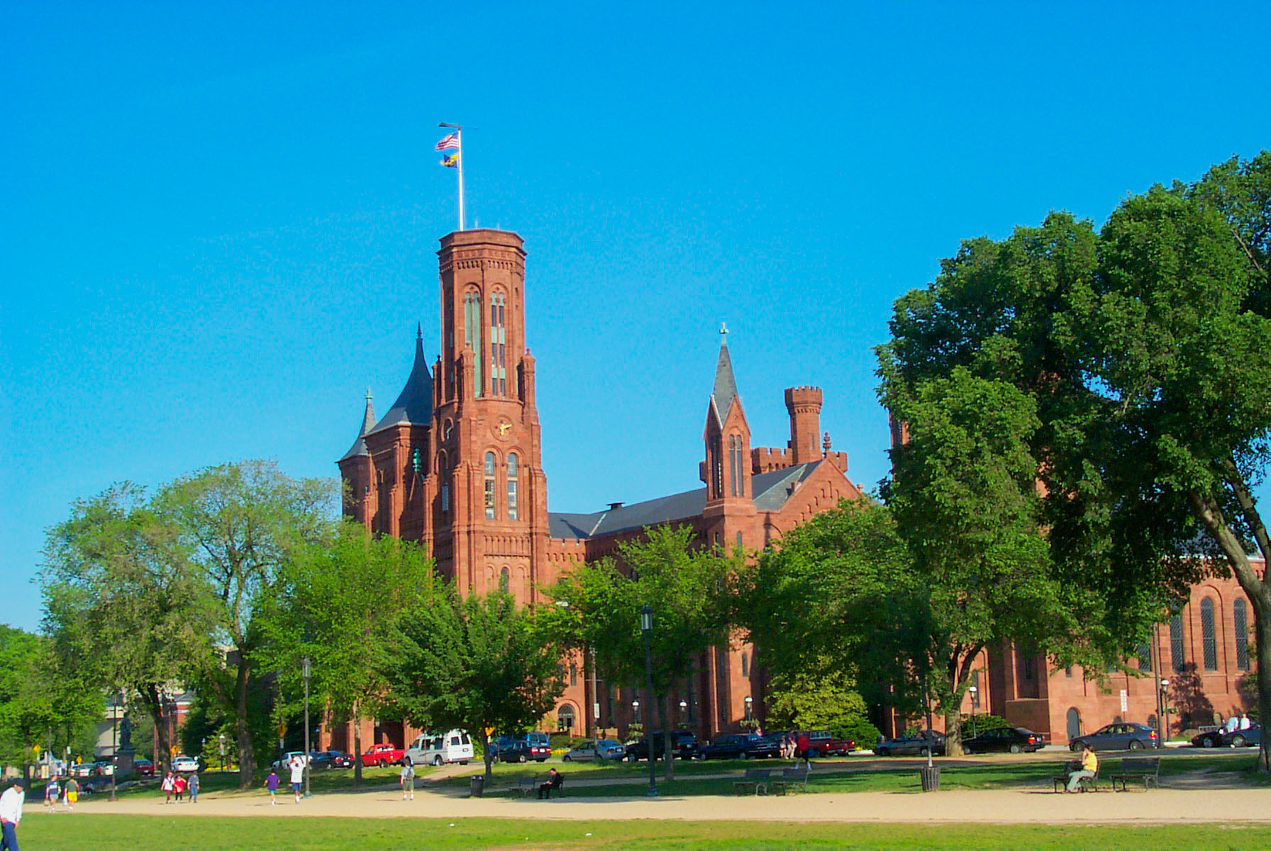 Smithsonian Castle, May 2000.  Click for next photo.