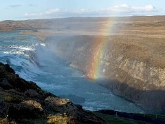Rainbow over Gullfoss.