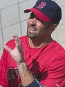 Todd Walker signs autographs, Red Sox spring training, Fort Myers, Florida, 2003.