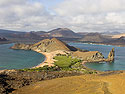 View from the summit of Bartolome Island, Galapagos, Dec.17, 2004.
