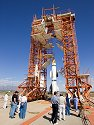 V2 launch platform, White Sands Missle Range, New Mexico, 2004.  The rocket is a Hermes, which was an American development based on the German V2.