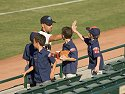 Grand Canyon�s David Aardsma high-fives some Cub Scouts, Arizona Fall League, 2004.