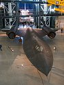SR-71 Blackbird, fastest operational airplane in history.  In the background is the Space Shuttle Enterprise.