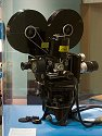 One of the movie cameras used to record Trinity, the first atomic bomb explosion, 1945.  On display at Bradbury Science Museum, Los Alamos, New Mexico, 2004.