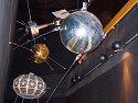 Sputnik, first satellite launched, 1957.  Replica made by original builders, on display at New Mexico Museum of Space History, Alamagordo, 2004.