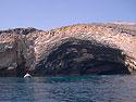 Lava cave, Punta Vicente Roca, Isabela Island, Galapagos, Dec.14, 2004.