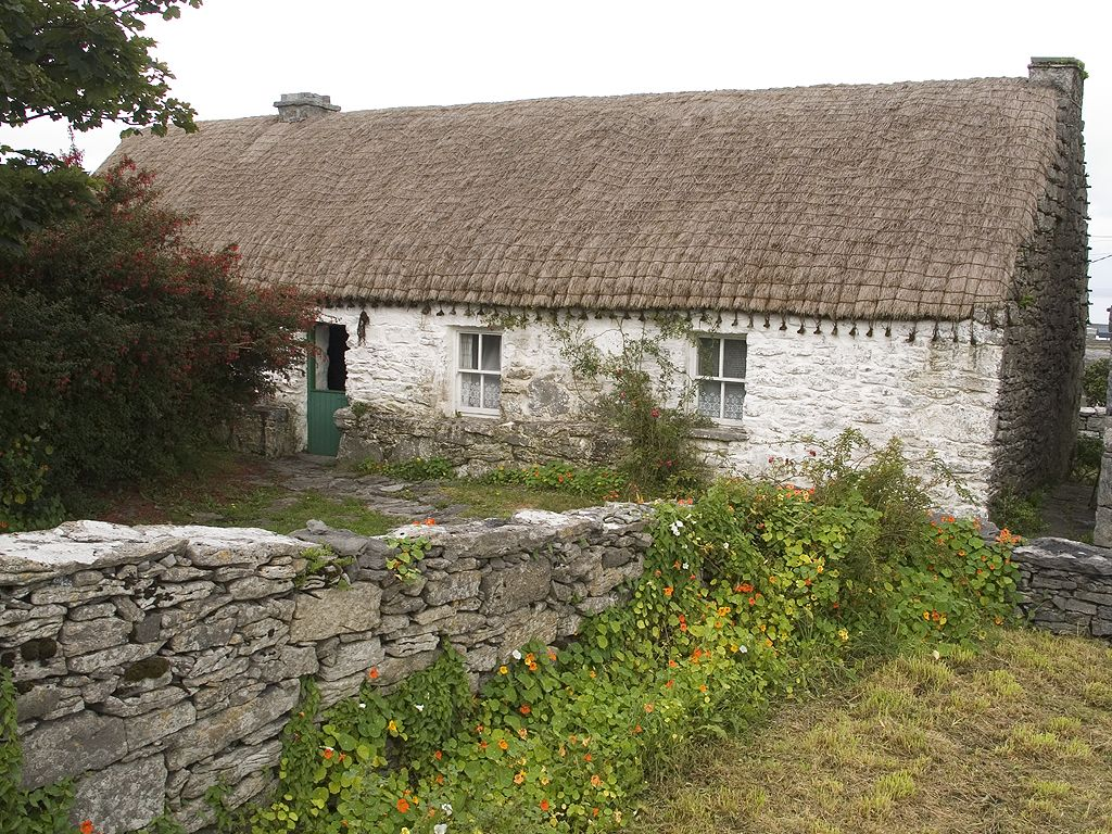 Cottage used by playwrite J.M. Synge 1898-1902, Inis Meáin, Ireland 2005.  Click for next photo.