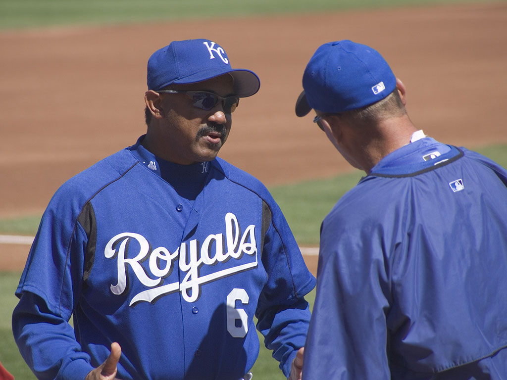 Royals Manager Tony Pena, spring 2005.  Click for next photo.