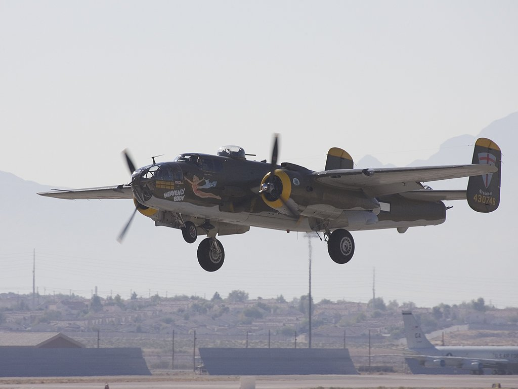 B-25, Aviation Nation in Las Vegas, 2005.  Click for next photo.