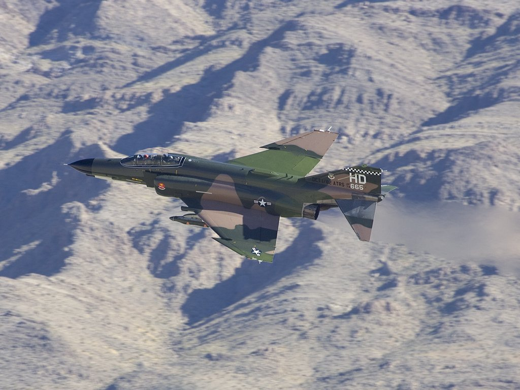 F-4 Phantom takes off prior to the Heritage Flight at Aviation Nation in Las Vegas, 2005.  Click for next photo.