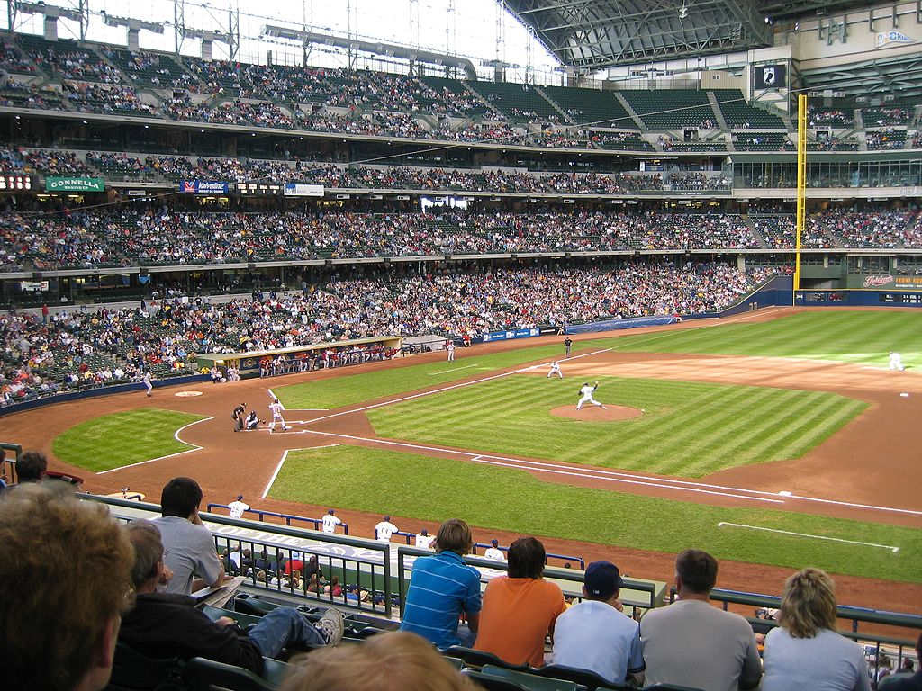 Miller Park, Milwaukee.  Click for next photo.