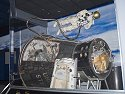Gemini X capsule, Kansas Cosmosphere, Hutchinson.  The spacewalk of astronaut Michael Collins is depicted.