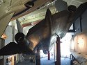 SR-71 Blackbird looms over the lobby of the Kansas Cosmosphere, Hutchinson.