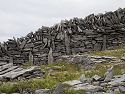 Typical stone wall, Inis Me�in, Ireland 2005.