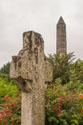 High cross and round tower, Glendalough, Ireland 2005.