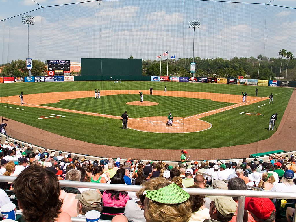 St. Patrick´s Day at Hammond Stadium, spring training home of the Minnesota Twins in Ft. Myers, Florida, 2008.  Click for next photo.