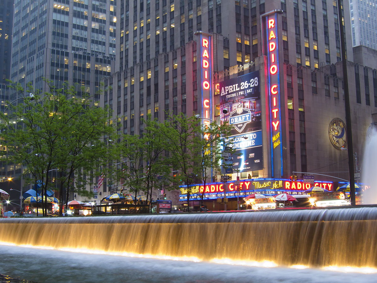Radio City Music Hall, NFL Draft, April 2012.  Click for next photo.