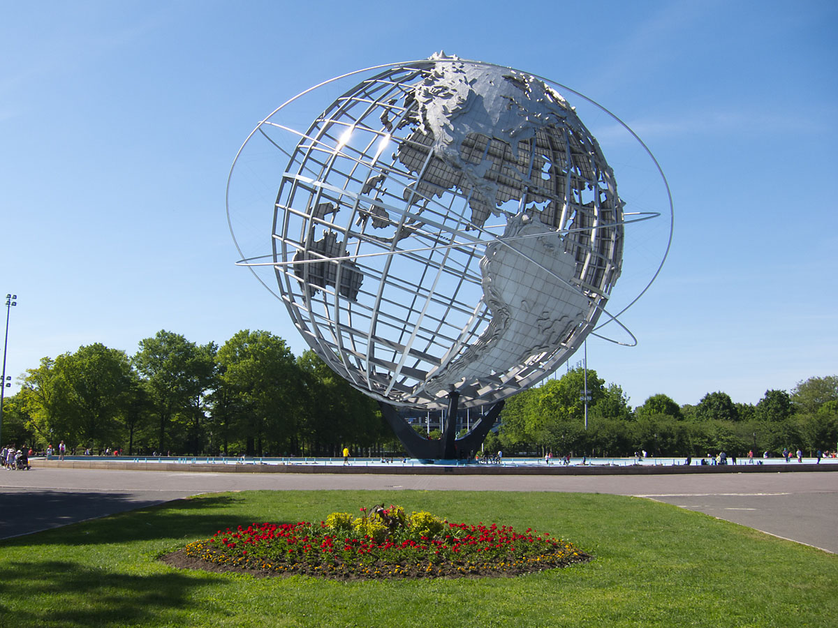Unisphere in Flushing Meadows-Corona Park, New York, May 2012.  Click for next photo.