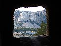 Mt. Rushmore framed by a tunnel on the Iron Mountain Road, October.