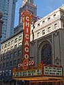 Iconic Chicago Theater sign, June 2012.