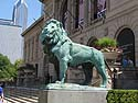 Lion in front of Art Institute of Chicago, June 2012.