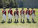 Redcoats at Colonial Michilimackinac, Mackinaw City, Michigan, August 2012.