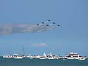 Blue Angels over Lake Michigan, Chicago Air and Water Show, August 2012.