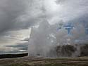 Old Faithful, Yellowstone, June 2013.
