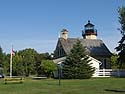McGulpin Ppoint Lighthouse near Mackinaw City, Michigan, August 2013.
