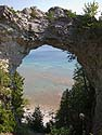 Arch Rock, Mackinac Island, Michigan, August 2013.