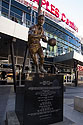 Statue of Jerry West, Staples Center, Los Angeles.