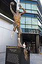 Statue of Kareem, Staples Center, Los Angeles.