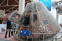 This was supposed to be Apollo 18, but after the program was cancelled it was used for the Apollo-Soyuz flight in 1975.  California Science Center, Los Angeles.