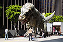 Random street scene in downtown Los Angeles.  I have no idea why these guys were carrying around a giant dino balloon.