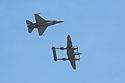 Heritage Flight, F-16 and P-38.