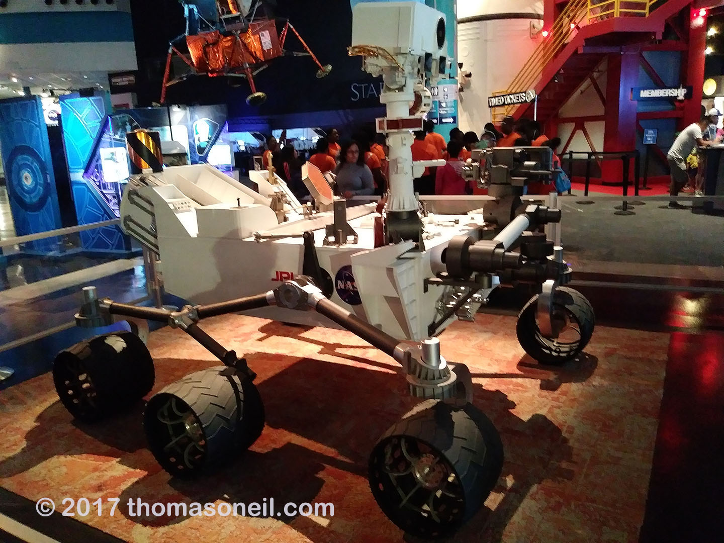 Mars Curiosity Rover, Johnson Space Center, Houston, July 2017.  Click for next photo.
