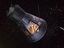 Mercury capsule Faith 7 flown by Gordon Cooper in 1963, Johnson Space Center, Houston, 2017.