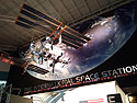 A depiction of the International Space Station, Johnson Space Center, Houston, 2017.