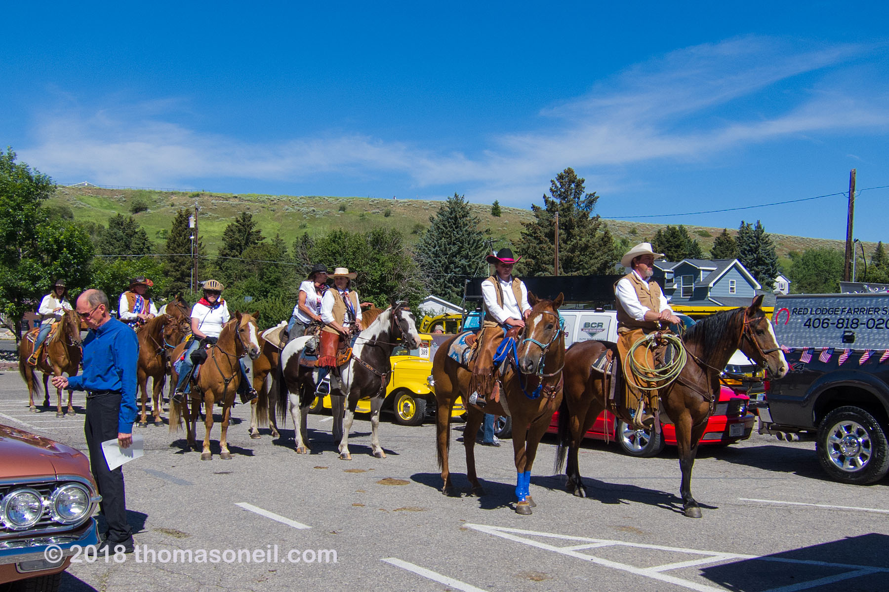 4th of July parade, Red Lodge, MT, 2018.  Click for next photo.