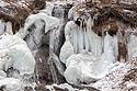 Fort Niobrara NWR semi-frozen waterfall, February 2018.